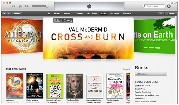 Cross and Burn on iBooks