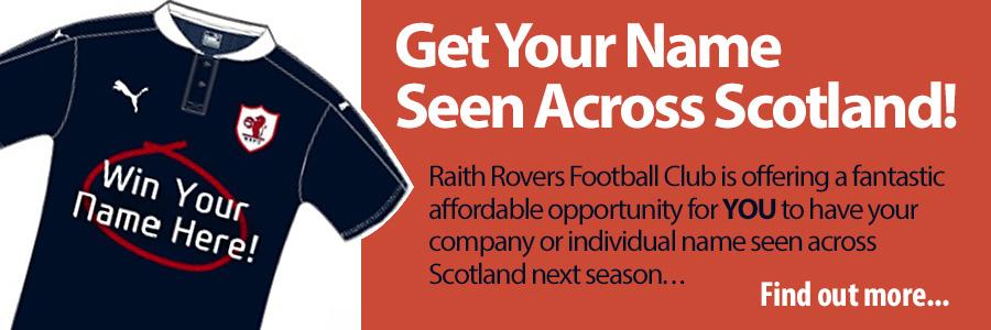 Get your name seen across Scotland