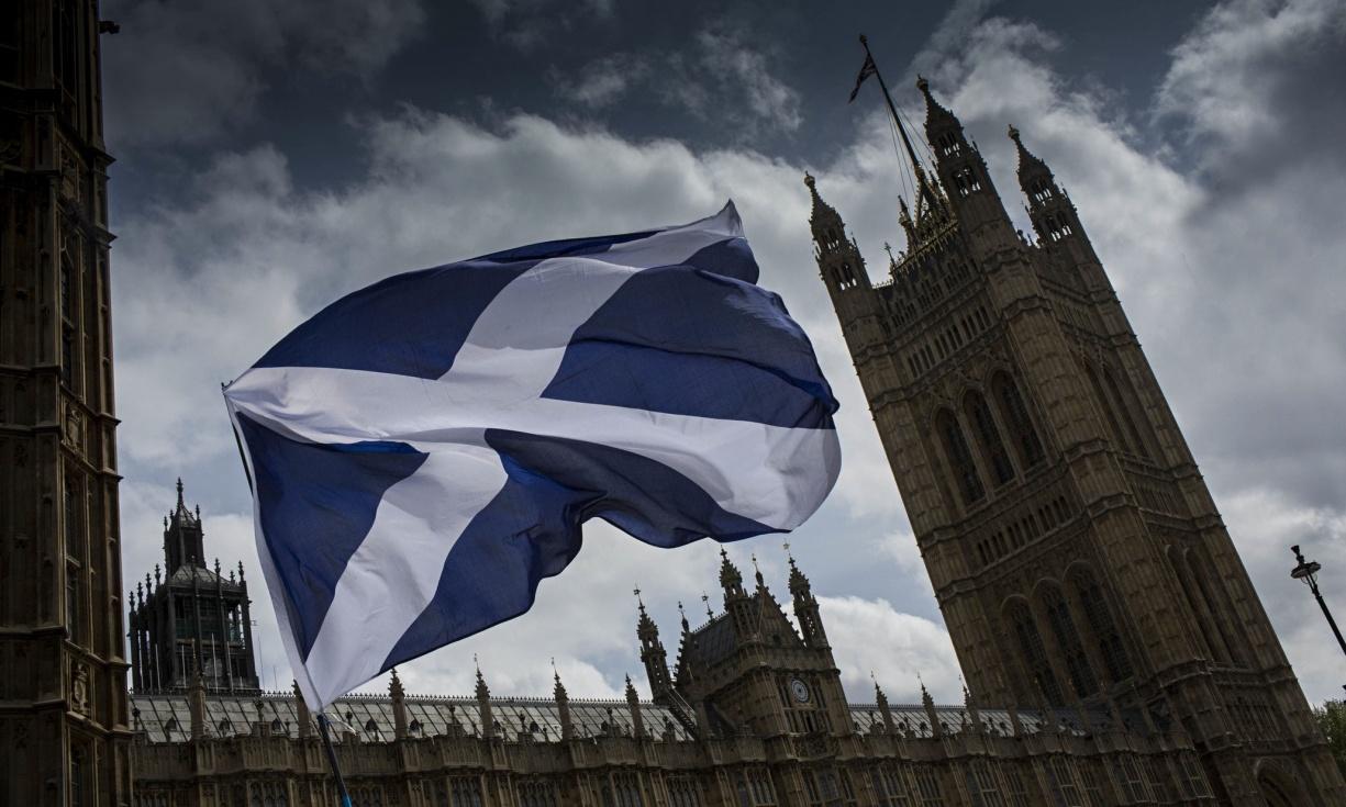 A-Scottish-flag-flies-out